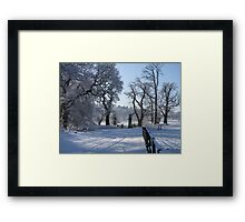 Dinefwr Castle in snow-01 Framed Print