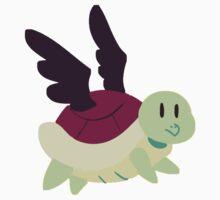 Black Winged Turtle Kids Tee