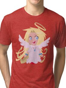 Blond Angel Girl Tri-blend T-Shirt