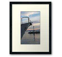 entering the bay Framed Print