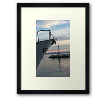 entering the bay Framed Print