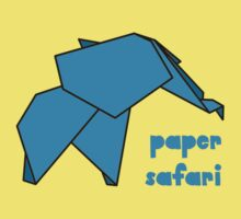 Paper Safari (blue elephant) One Piece - Short Sleeve