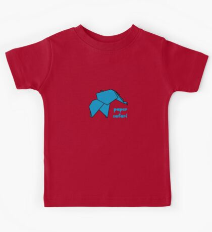 Paper Safari (blue elephant) Kids Tee
