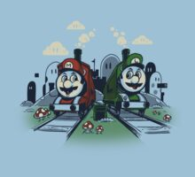 Super Train Bros One Piece - Short Sleeve
