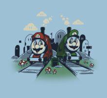Super Train Bros Kids Tee