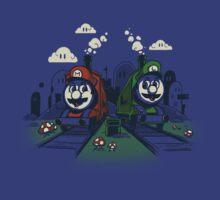 Super Train Bros by drawsgood
