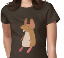 Little Brown Mouse Womens Fitted T-Shirt