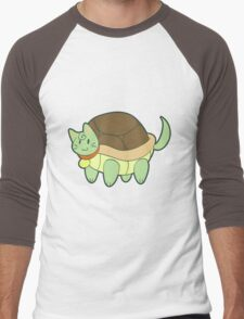 Green Cat Turtle Men's Baseball ¾ T-Shirt