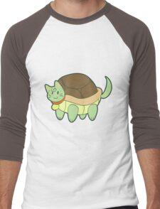 Green Cat Turtle Men's Baseball ¾ T-Shirt
