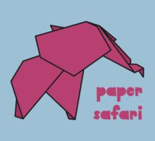 Paper Safari (pink elephant) Kids Tee