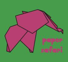 Paper Safari (pink elephant) Kids Tee