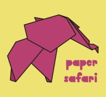 Paper Safari (pink elephant) One Piece - Short Sleeve
