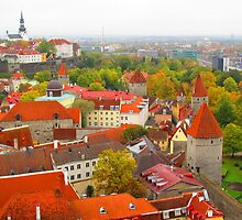 Vivid Tallinn before the Fog by Mary-Elizabeth Kadlub