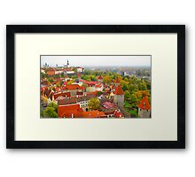 Vivid Tallinn before the Fog Framed Print