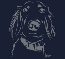 WWWD? Willow, Long Haired Weimaraner : Pattern One Piece - Long Sleeve