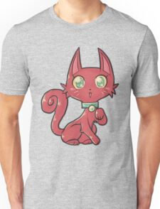 Pretty Red Kitty Cat Unisex T-Shirt