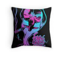 Fear & Loathing on Sesame Street Throw Pillow