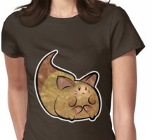Fluffy Brown Kitty Cat Womens Fitted T-Shirt