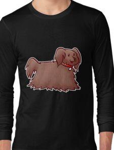 Fluffy Brown Puppy Dog Long Sleeve T-Shirt