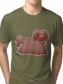 Fluffy Brown Puppy Dog Tri-blend T-Shirt