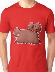 Fluffy Brown Puppy Dog Unisex T-Shirt