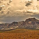 Desert Landscape with Cloudy Sky by Alinta T. Giuca