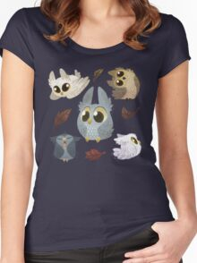 Puffy Owls Women's Fitted Scoop T-Shirt