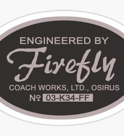Firefly Coach Works LTD Sticker