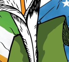 The Lily, Plough and Tricolour Sticker