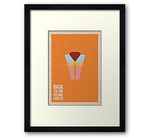 Back to the Future - Part III Framed Print