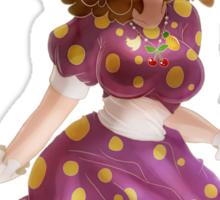 Polk-a-dot Purple Dress Princess Sticker