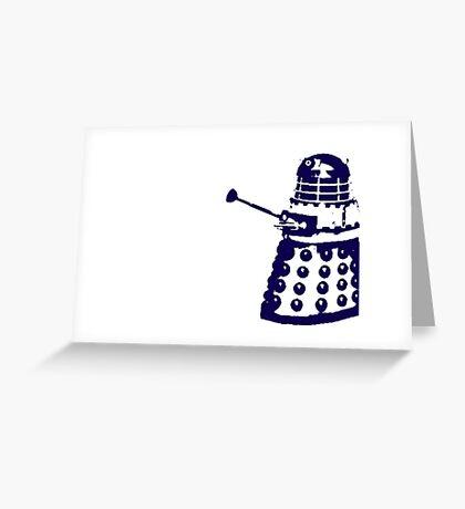 Dr Who Dalek Greeting Card