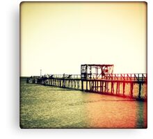 Fishing Pier I Sunset Canvas Print