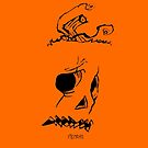 Pumpkinhead - Express Ya Face - Orange - Iphone by tribal191983