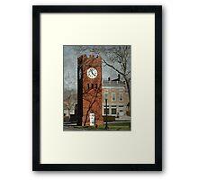 Clock Tower in Hudson, Ohio Framed Print