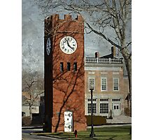 Clock Tower in Hudson, Ohio Photographic Print