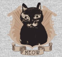 Vintage Style Sepia Pussy Cat  Kids Clothes