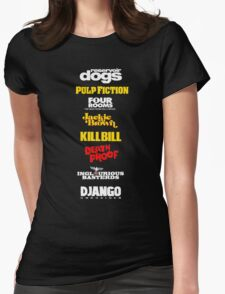 Quentin Tarantino Filmography Womens Fitted T-Shirt