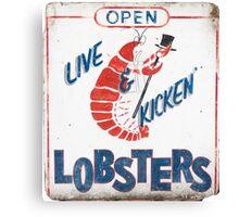 Live Kicken' Lobsters! Canvas Print