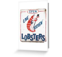 Live Kicken' Lobsters! Greeting Card