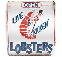Live Kicken' Lobsters! Poster