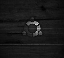 Wooden Ubuntu Logo by BrandonDanis