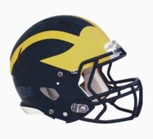 University of Michigan Wolverines Winged Football Helmet by MGR Productions