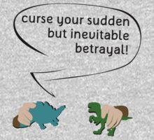 Curse your sudden but inevitable betrayal! (on white) One Piece - Long Sleeve