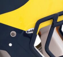 Wolverines Winged Football Helmet Sticker