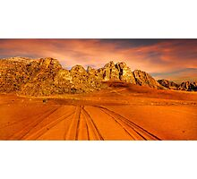 Sandstone valley in Wadi Rum, Jordan. Photographic Print