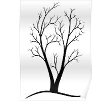 A Two-trunked Tree Poster