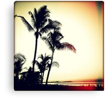 Palms at Dawn I Sunset Canvas Print