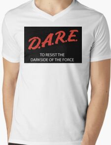 D.A.R.E. to resist the darkside sticker Mens V-Neck T-Shirt