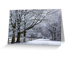 A Winters Lane Greeting Card